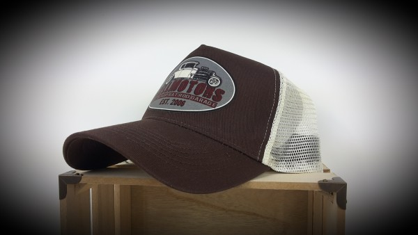 "HELLMOTORS Trucker CAP ""Hotrod Shop"" Grau"