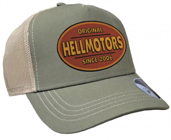 Trucker Cap - Hellmotors - Canvas Oliv/Khaki