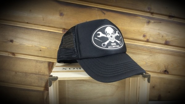 "HELLMOTORS TRUCKER CAP ""Skull Wrench"" Black"
