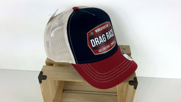 Trucker Cap - Drag Race - Canvas Navy/Burgund/Beige