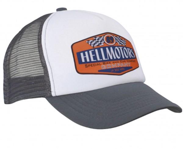 Hellmotors 69 Trucker Cap Grau/Weiss