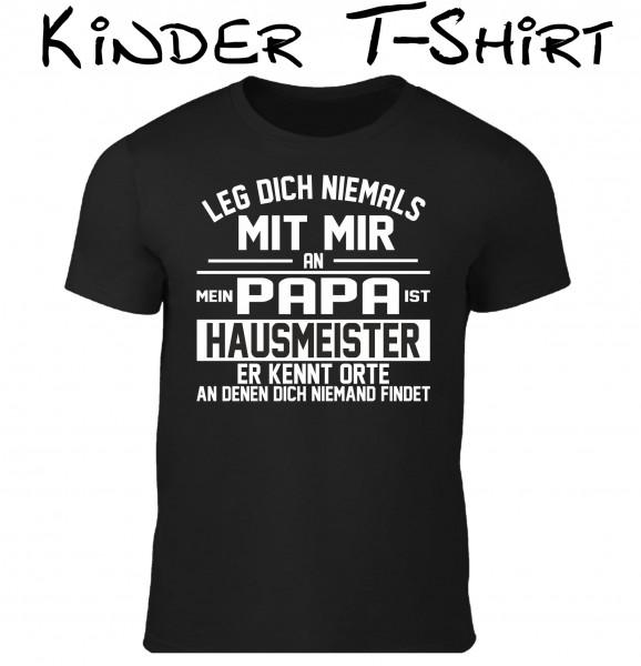 "Kinder T-Shirt ""Papa ist Hausmeister"""