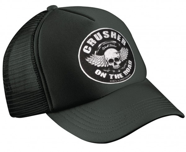 """HELLMOTORS TRUCKER CAP """"Crusher on the Road"""" schwarz"""