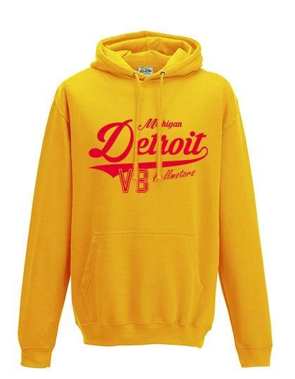 Herren Hoodie Detroit - Gelb