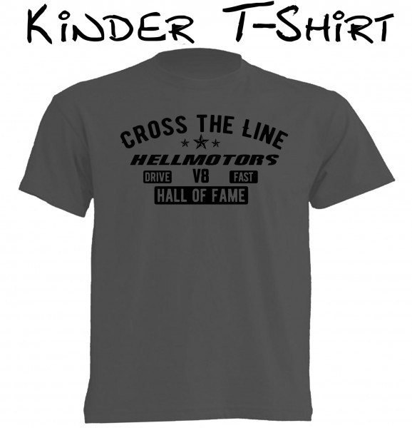 Kinder T-Shirt Cross the Line grau