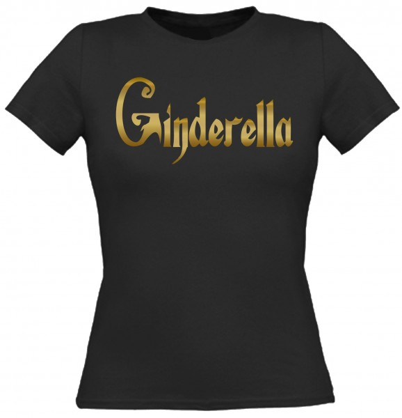 Damen T-Shirt Ginderella - Gold