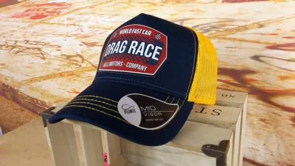 Trucker Cap - Drag Race - Yellow - Denim