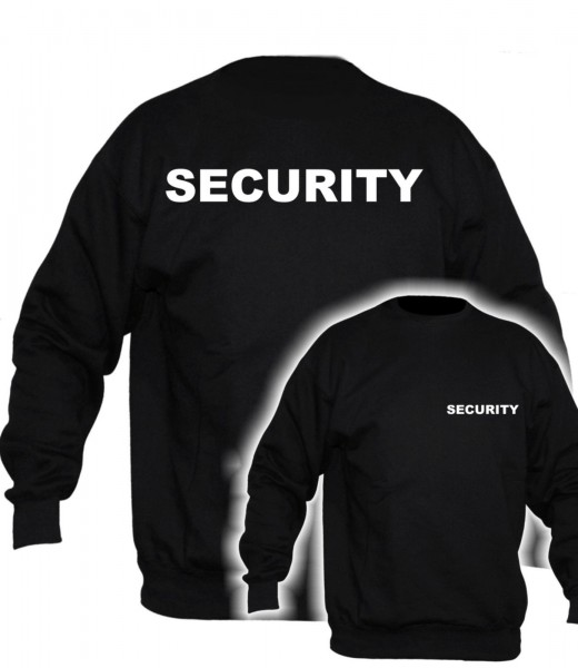 Herren Security Pullover - ohne Ärmeldruck