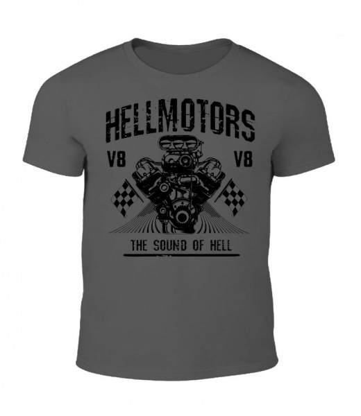 "Herren V8 T-Shirt ""New SOUND OF HELL"" grau"