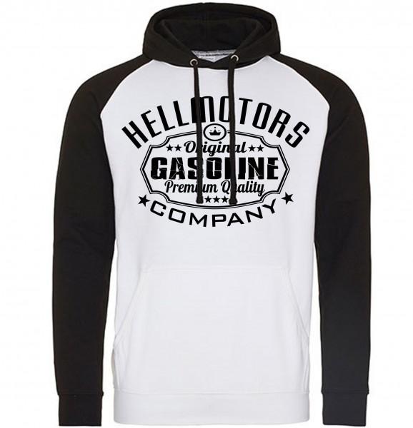 Herren Baseball Hoodie Gasoline schwarz/weiß