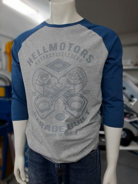 Herren Biker Longsleeve Garage Built 3/4 Armlänge
