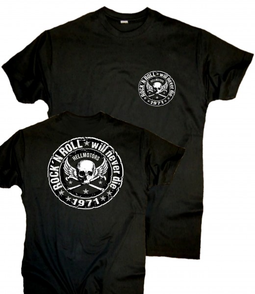 Herren T-Shirt Rock n Roll beidseitig
