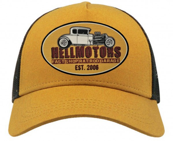 Trucker Cap - Hotrod Shop - Mustard/Black