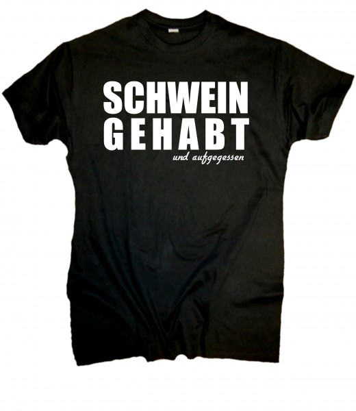 Herren Fun T-Shirt- Schwein gehabt