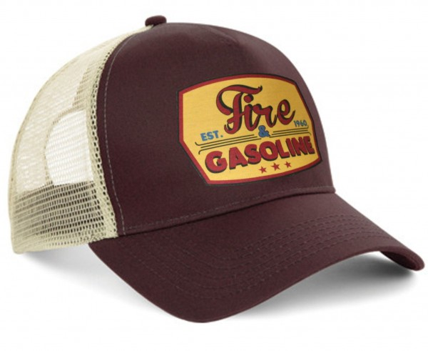 "HELLMOTORS CAP ""Fire & Gasoline"" Chocolate"