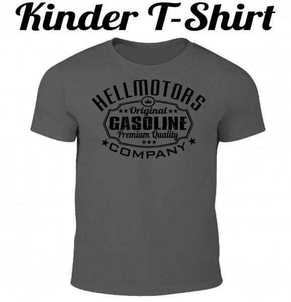 Kinder T-Shirt Gasoline in grau/schwarz