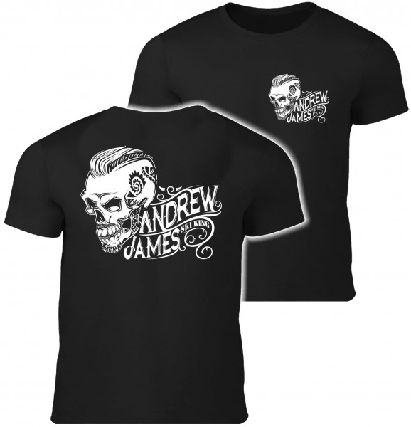 Andrew James Ski King Tattooed Skull Männer T-Shirt