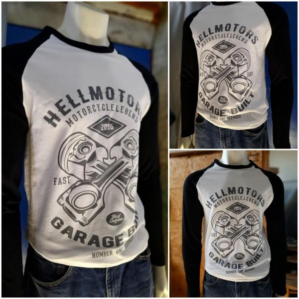 Herren Longsleeve garage-built-hellmotors-schwarz-weiss
