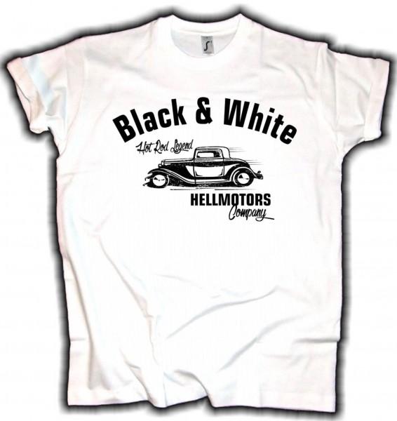 Herren T-Shirt Black & White