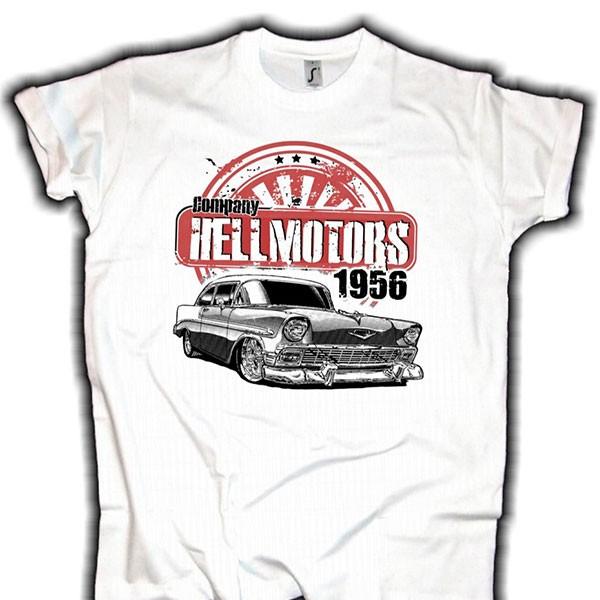 "Herren V8 T-Shirt ""Chevy 56"" weiss"