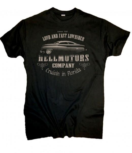 "Herren V8 T-Shirt ""LOWRIDER"" schwarz"