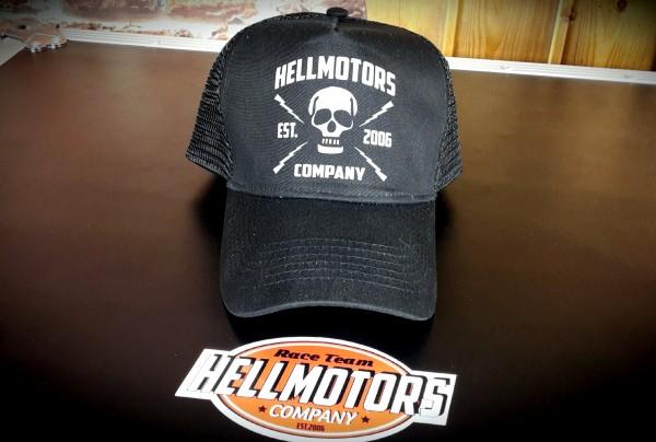 """HELLMOTORS Trucker CAP """"Skull"""" Schwarz"""