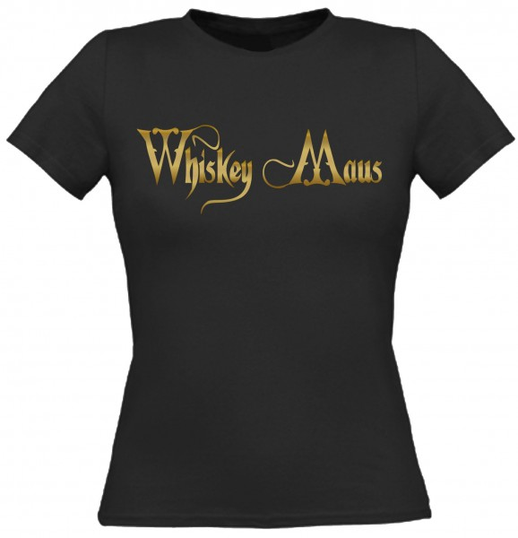 Damen T-Shirt Whiskey Maus - Gold