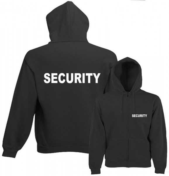 Herren Security Kapuzenjacke - ohne Ärmeldruck