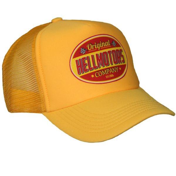 """HELLMOTORS CAP """"Company Rot"""" Gelb"""
