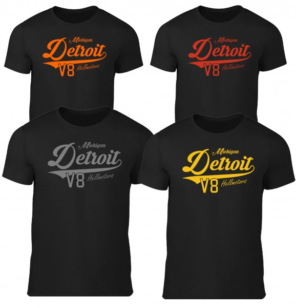 Kinder T-Shirt Detroit in schwarz
