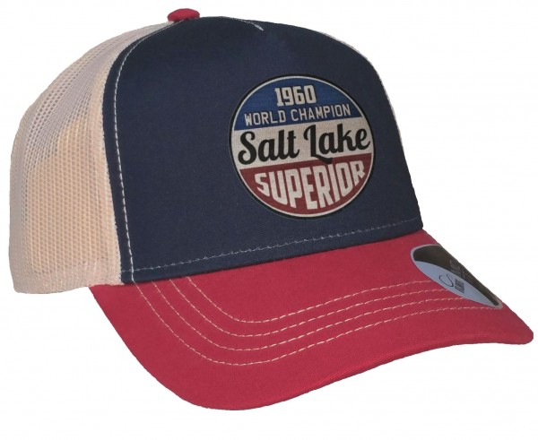 Trucker Cap - Salt Lake Race - Canvas Navy/Burgund/Beige