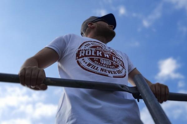 Herren T-Shirt Rock n Roll Cleveland Rot