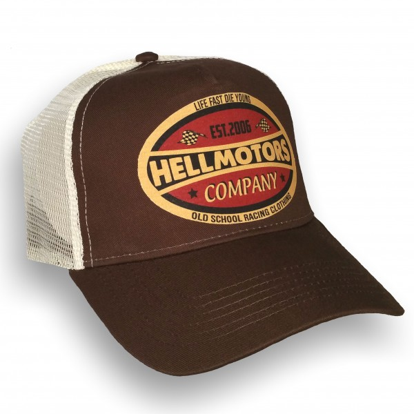 "HELLMOTORS Trucker CAP ""Life Fast"" Chocolate"