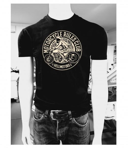 Biker Herren T-Shirt Motorcycle Rules