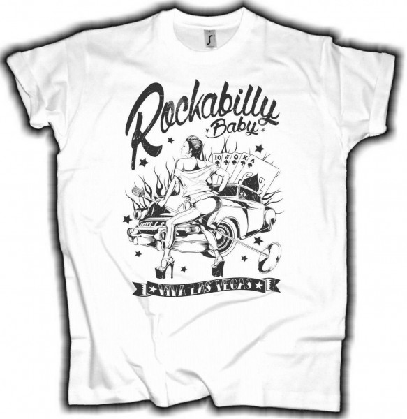 Herren T-Shirt Rockabilly Las Vegas