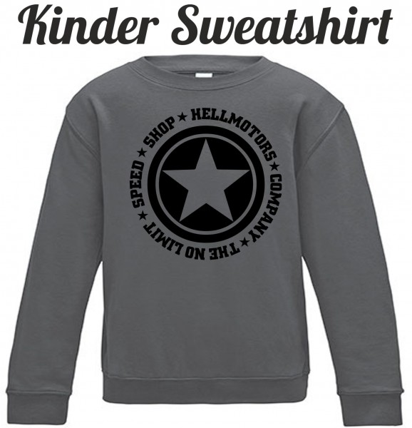 Kinder Sweatshirt Speed Limit in grau/schwarz