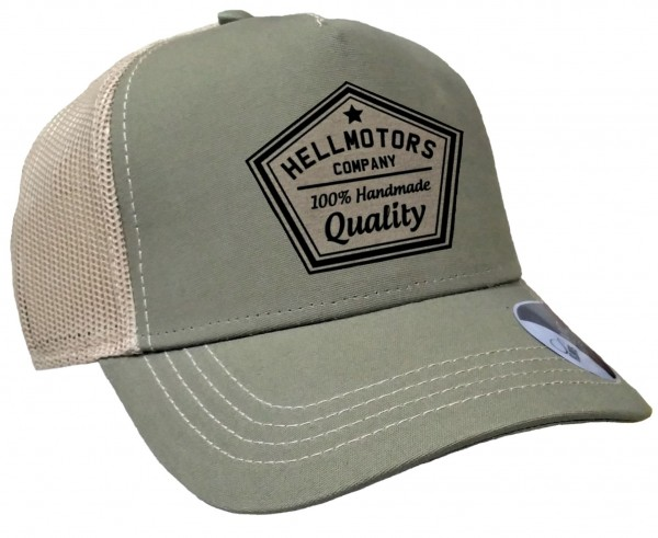 Trucker Cap - Quality - Canvas Oliv/Sand