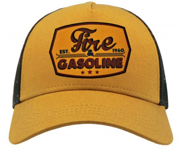 Trucker Cap - Fire & Gasoline - Mustard/Black