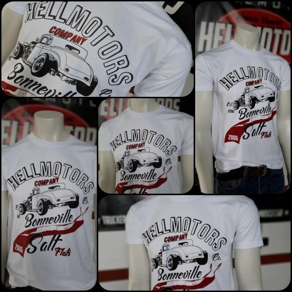 Herren Hot Rod T-Shirt Salt Flats Bonneville