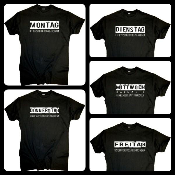Herren Fun Arbeits T-Shirts 5 Stück