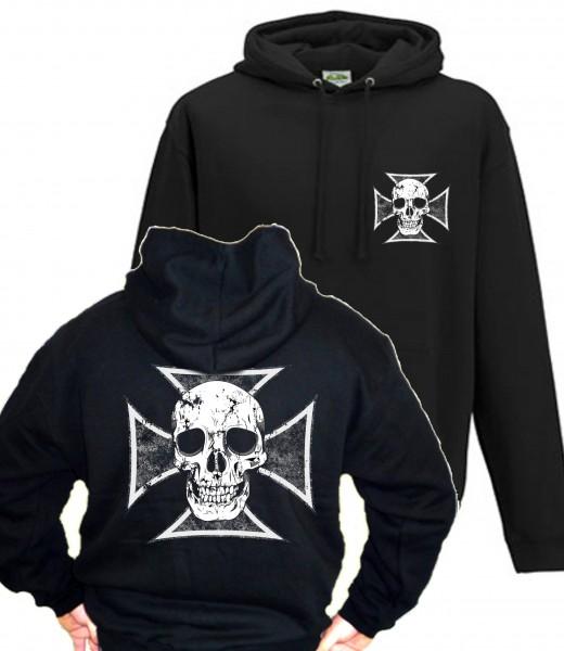 Herren Kapuzenpullover Skull Cross