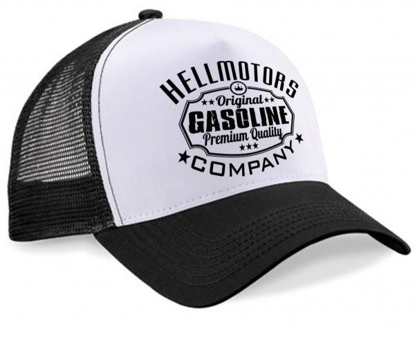"HELLMOTORS Trucker CAP ""Gasoline"" Schwarz-Weiss"
