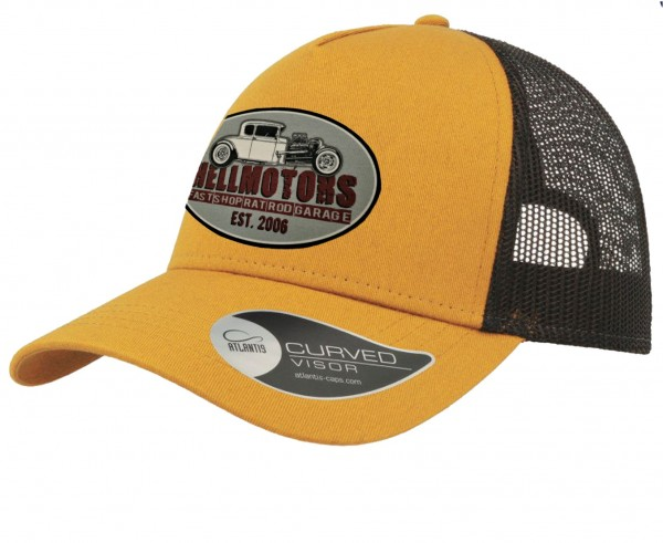 Trucker Cap - Fast Shop - Mustard/Black - Grey Patch