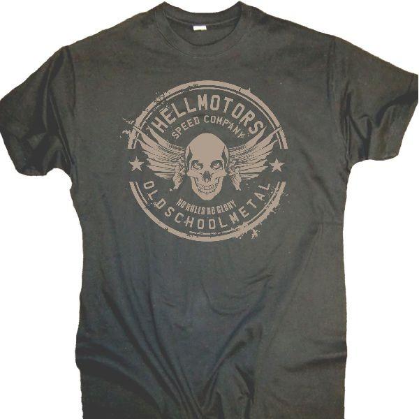 """Herren T-Shirt OLDSCHOOL Style """"Old School Metal"""" grau"""