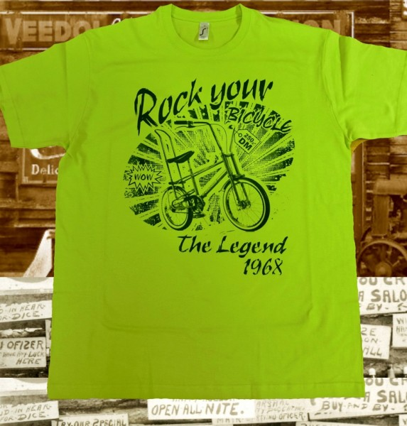 "Herren Old School T-Shirt ""Bonanza""-Lime"