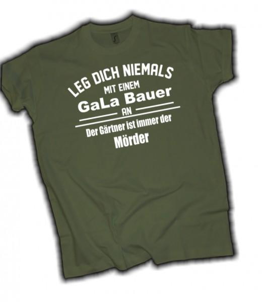 "Herren Fun T-Shirt ""GaLa Bau"" - Oliv"