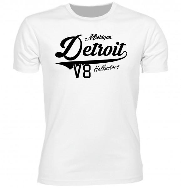 Herren T-Shirt Detroit Michigan White Edition