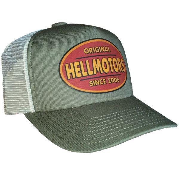 """HELLMOTORS CAP """"Vintage"""" Oliv Record"""