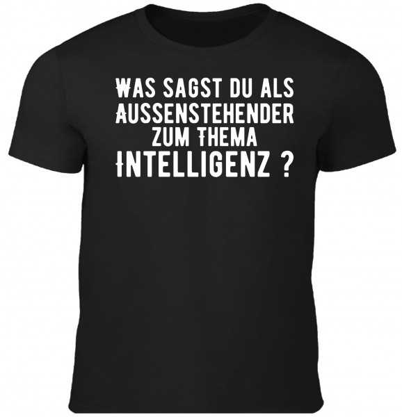 Herren Fun T-Shirt - Thema Intelligenz