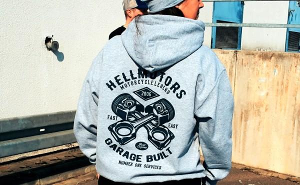 Herren Hoodie Garage Built